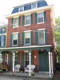 exterior casual brick home decoration with brown brick exterior