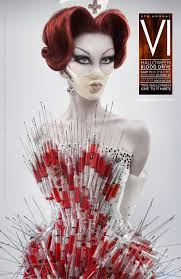 freaky or fabulous saw nurse wears the blonds syringe corset
