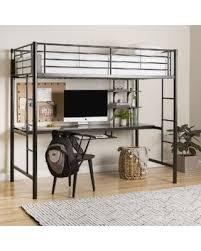 black metal twin loft bed with desk spring savings on black metal twin loft bed with desk