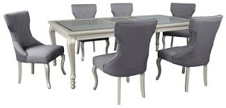 Extension Tables Dining Room Furniture 7 Piece Rectangular Dining Room Extension Table Set By Signature