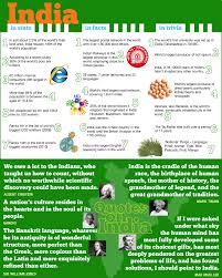 infographic which gives you some interesting facts about india
