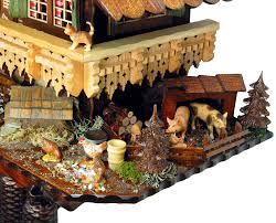 cuckoo clock 8 day movement chalet style 65cm by august schwer