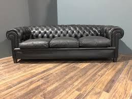 Black Leather Chesterfield Sofa Early 20thc Black Leather Chesterfield Sofa Robinson Of