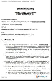 job contract templates