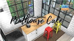 the sims freeplay penthouse cafe original design city