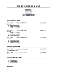 Resume Format For Be Freshers Resume Format Free Download In Ms Word 2007 For Freshers And