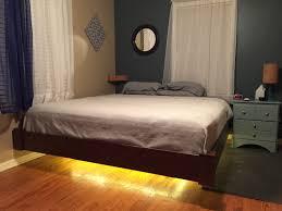 floating bed designs floating bed frame wall mounted wood bookshelf comfy black study