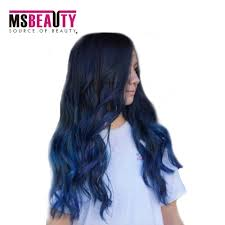 Purple Remy Hair Extensions by Msbeauty Brazilian Hair Grade 7a Color 2t 1b Blue Body Wave Hair
