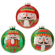 nutcracker ornaments 4 nutcracker glass ornament set of 3