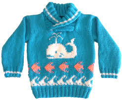 fish sweater knitting pattern for sweater with whale fish and waves