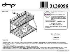 Wood Loft Bed Instructions by Dorel Twin Over Full Metal Bunk Bed Multiple Colors Walmart Com