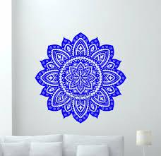 Wall Decals Mandala Ornament Indian by Aliexpress Com Buy Mandala Lotus Flower Wall Decal Vinyl Sticker