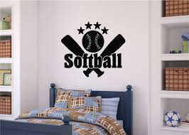 softball sports decor vinyl decal wall stickers letters words teen