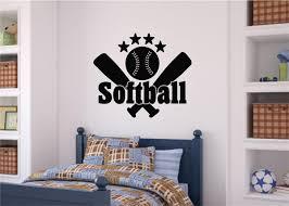softball sports decor vinyl decal wall stickers letters words teen softball sports decor vinyl decal wall stickers letters words teen room