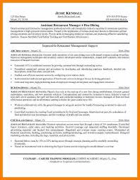 General Manager Resume Template Restaurant General Manager Cv Nice Resume Sample For Restaurant