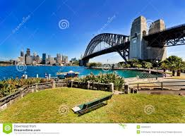 sy cbd bridge green bench day stock photo image 45896024