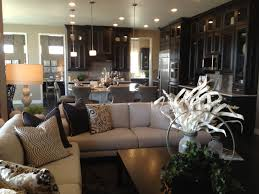Kitchen Sofa Furniture Dream Kitchen With Dark Cabinets Great Open Concept Open To The