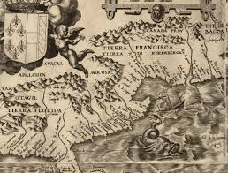Map Of East Coast Florida by Os Early Map Of The East Coast Of North America 1562 1302 989