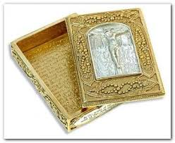 vatican library collection vatican library collection crucifixion rosary box gold silver