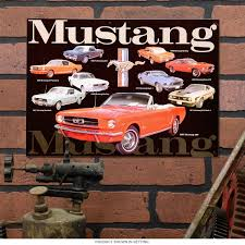 ford mustang home decor ford automotive tin signs clocks and more home and garage decor