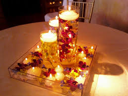 wedding reception centerpieces floating candles decorating of party