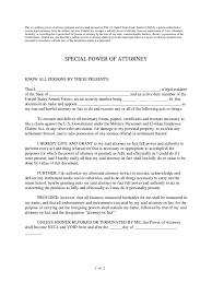 Blank Power Of Attorney Form Free by Military Power Of Attorney Form 4 Free Templates In Pdf Word