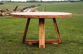 recycled timber round dining table round dining table timber