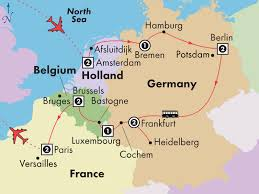 belgium and netherlands map 14 day germany luxembourg belgium with visit