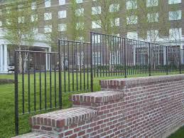 Garden Wall Railings by Fabricated Ornamental Iron Fence U0026 Railings Hilton Suffolk