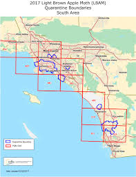 Map Southern California Light Brown Apple Moth Regulation And Quarantine Boundary Maps
