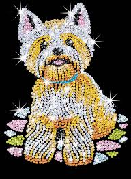 amazon com sequin art blue westie dog sparkling arts and crafts