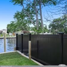 black pvc vinyl privacy fencing panels illusions vinyl fence