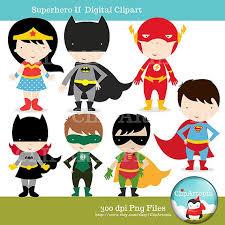 cute superhero clipart justice league woman batman
