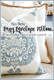 How To Make Sofa Pillow Covers Easy No Sew Pillow Cover Stonegable