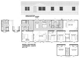 4 Bedroom 2 Bath House Plans 4 Bedroom Floor Plan B 5016 Hawks Homes Manufactured