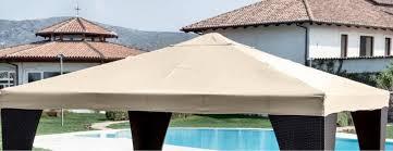 gazebo telo telone pesante impermeabile beige copertura telo di ricambio