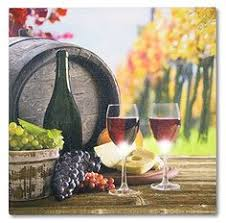 Grapes And Wine Home Decor Wine Canvas Print With Led Lights Home Decor Pictured With Wine