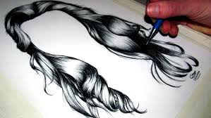 sketches of hair how to draw realistic hair youtube