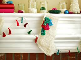 How To Make Home Decorations by How To Make A Burlap Christmas Stocking How Tos Diy