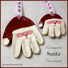 messy little monster santa handprint ornaments more christmas
