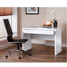 white high gloss desk white gloss desk and designer leather chair bundle 512 vat
