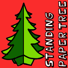 how to make a standing paper tree crafts