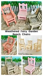 Beach Lounge Chair Png How To Make Weathered Fairy Garden Beach Chairs