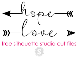 free silhouette images hope and love arrows free silhouette studio cut files silhouette