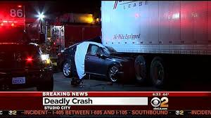 fatal accident forces sigalert on sb 101 freeway la times