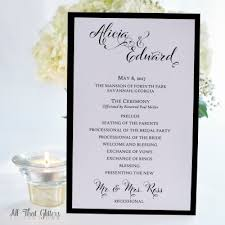 Flat Wedding Programs Ceremony Programs All That Glitters Invitations