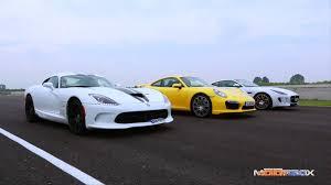 jaguar f type vs porsche 911 jaguar f type r coupé vs porsche 911 turbo vs srt viper