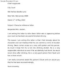 character reference letter character letter samples template