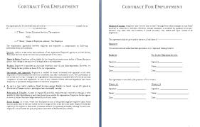 doc 818522 free employment contract template word u2013 doc818522