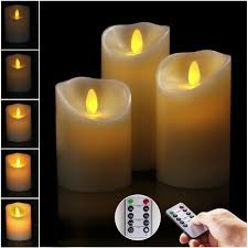 Amazon Com Big House Flickering Flameless Candles With Timer